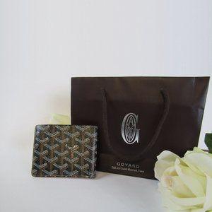 Authentic 2006 Goyard Bifold Wallet Black & Tan